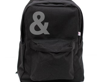Backpacks, Ampersand, Rucksack, Nylon Backpack, Laptop Backpack, Hipster, Black, School Backpack, Men & Women Backpack
