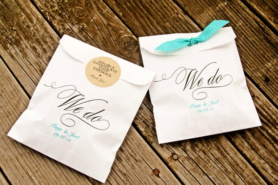 We do paper favor bags wedding cookie cake or candy by mavora for Cookie bags for wedding