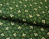 Yellow & Green Clovers Cotton Fabric, 2.7 Yards