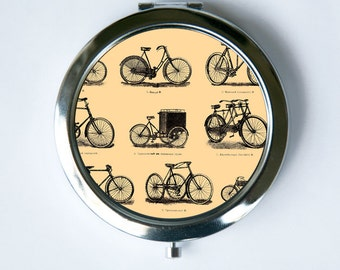 Victorian Bikes Compact MIRROR Pocket Mirror steampunk bicycle