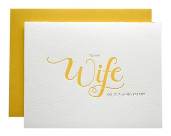 Wife Letterpress Card
