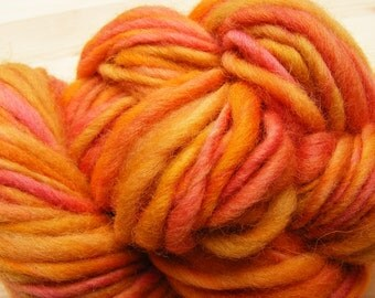 AUTUMNAL Handspun Wool Yarn 77yds 3.5oz Corriedale Art Yarn Knitting Bulky Aspenmoonarts
