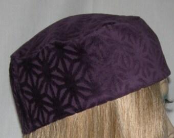 Purple Design Buchari Suede Kippah Yarmulka Bar Mitzvah Judaica Skullcap Headcovering - for Men and Women