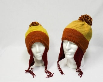 Cunning Jayne Cobb Earflap Hat knitting PATTERN - adult sizes - permission to sell finished items