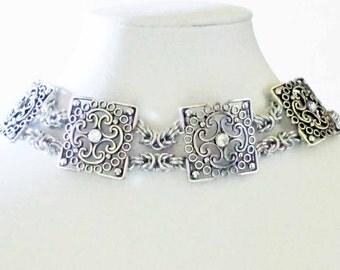 Bling Byzantine Chainmaille Choker Handmade Wedding