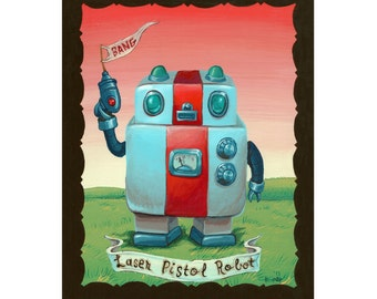 Laser Pistol Robot - Reproduction - Mr. Hooper Art of Nashville Tennessee