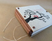 Love Birds on Tree Branch Personalized Wedding Photo Album or Guest Book - Custom Made for You