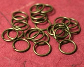 Antique brass jump ring 12mm outer diameter 16g thick, 24 pcs (item ID XMXM00532CCE)