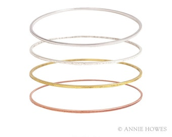 Boho Stacking Bangle Bracelet. Adorn with A Charm for An Easy Gift. BBFS
