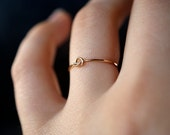 Tiny Ultra Thin Knot ring, 14k gold fill, knot ring, bridesmaid, gold stacking ring, gold knot ring, delicate knot ring, gold knot ring