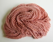 Plant Dyed Handspun Wool Yarn Pink Worsted weight