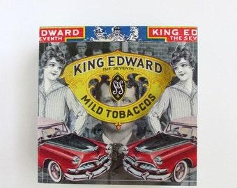 king edward - acrylic art block