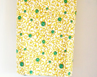 Table Topper Tablecloth Bengaline Fabric Vintage Designer Decor