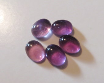 Amethyst - Oval Cabochons, Lot, 9.85 cts - 6x8 (A106)