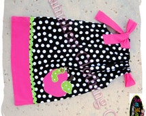 Girl Back To School Clothing Dress Apple Worm SIZE 2T 3T 4T 5T 6 7 8 24 MONTH Pillowcase Dress Pageant 1st day of Kindergarten Preschool Set
