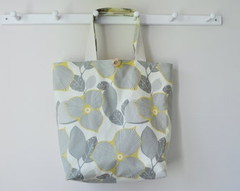 Roll Up Market Bag - Yellow Blossom