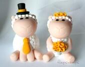 Custom Sheep Wedding Cake Topper