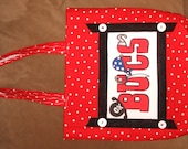Upcycled Tote Bag--Buccaneers Tote--Pirates--FREE SHIPPING