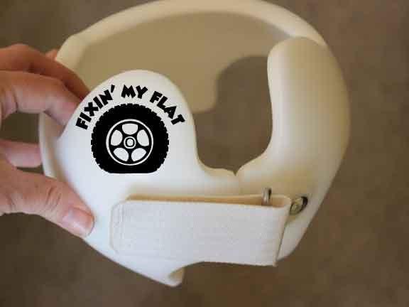 Fixin My Flat Cranial Helmet Decal Set Of  Baby - Baby helmet decals