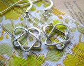 Celtic Adoption Triad Earrings - Sterling Silver - Small Dangle - Gift Daughter Mother Grandmother Child Sister