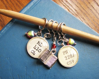 For the Love of a Library - Non-Snag Stitch Markers for Book Worms