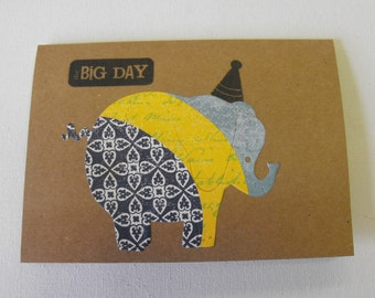 Elephant Stationery Happy Birthday Hand Made Cards by The Paper Peddler set of six