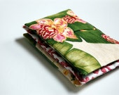 Tropical Trio of Organic Lavender Sachets / fragrance sachets / drawer sachets / dryer sachet / chemical free laundry / tropical gift idea