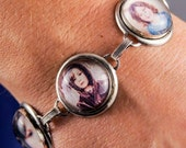 Personalized photo bracelet - from artwork or photo - 5 images