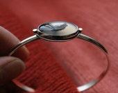 Emerge, A Montana Agate and silver cuff bracelet
