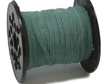 3mm Real Suede Lace Cord String (You pick length) Turquoise 42956