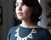 Big  Brass Open Triangle Necklace