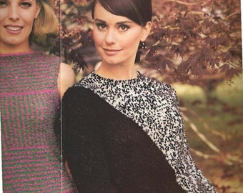 Knit Long Sleeve Pullover With Diagonal (RIGHT) (U25)
