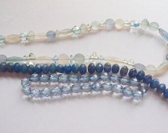 Destash Three Strands of Glass Beads