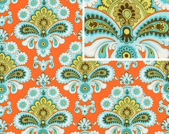 BELLE French Wallpaper Orange by Amy Butler Quilt Apparel Fabric BTY