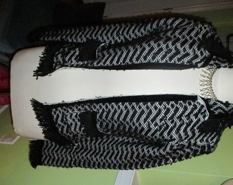 Incredibly Chic and Classic Textured Knit Fringed Cardigan
