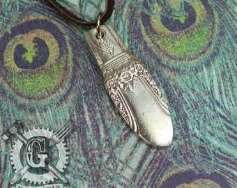 First Love 1937 Pattern Spoon Pendant - Handmade by Doctorgus from Recycled Vintage Silverware - Repurposed Upcycled Jewelry