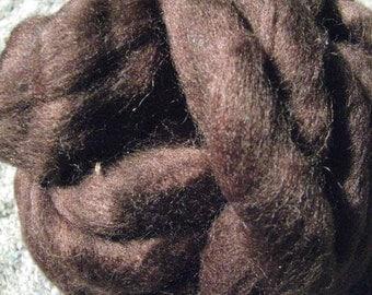 4 oz Dark Brown, Mill End Wool Roving
