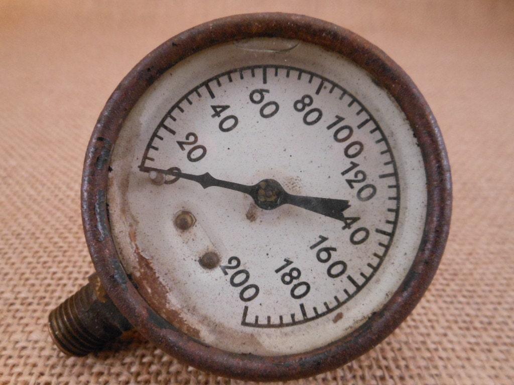 Vintage industrial chic pressure gauge steampunk - Steampunk pressure gauge ...