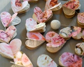 Garland, pink, blush, paper garland, pink and gold, bachelorette party, engagement party, bridal shower, wedding decor, rose gold, baby