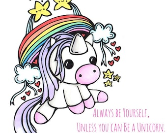 Be a Unicorn Blank Note Card