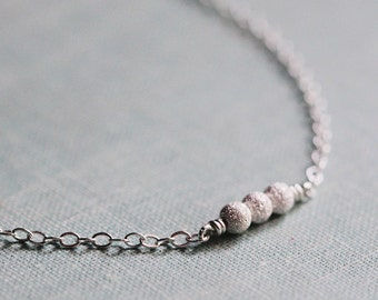 stellar in silver - tiny bead necklace by elephantine