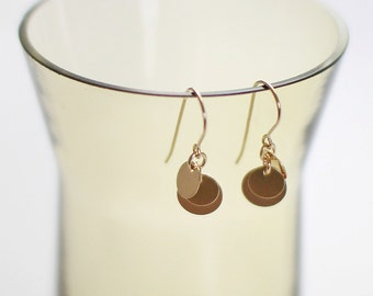 SALE! - dolce in gold - gold coin earrings by elephantine