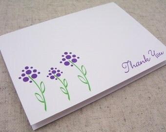 Summer Sale // Purple Flower Thank You Set