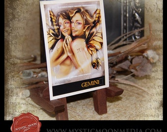 LIMITED...Gemini... ACEO / ATC.. Fantasy Picture...Zodiac Collection...Fairy, Twins, May 21 - June 20