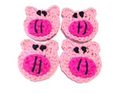 Lot Of Four Itty Bitty Piggie Crocheted Make-Up Removers