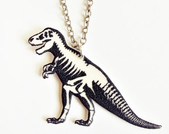 Dinosaur T. Rex Skeleton Necklace