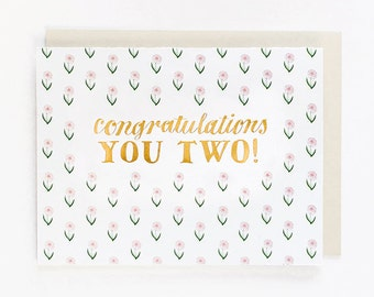 Congratulations You Two Card
