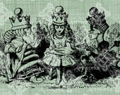 Digital Download Royal Queen Alice in Wonderland digi stamp, digis, digital stamp, Lewis Carroll, Alice in Crown