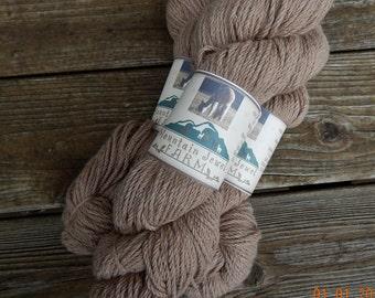 Alpaca Yarn Bulky Weight Beige/Tan 200 Yard 3 Ply Skein Handmaid, Knitting, Crochet, Weaving DIY