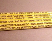 "Laser Engraved Pencils - Set of Six - Screw Your ""Lab Safety"" I Want Super Powers!"